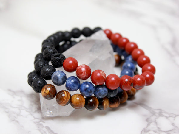 Men's Beaded Bracelet | Gift For Him-Bracelet-Drishti Handmade