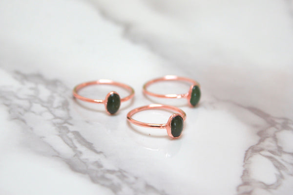 Jade Ring | March Birthstone Alternative-Ring-Drishti Handmade
