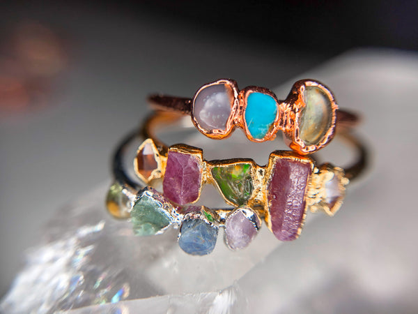 Custom Birthstone Ring | Personalized Family Jewelry-Ring-Drishti Handmade