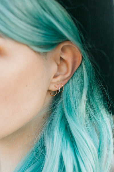 Sleeper Earrings | Mini Hoop Ear Hugger