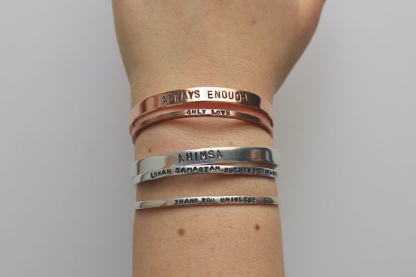 Be Kind and Shit | Stamped Cuff