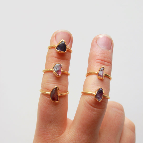 Amethyst and Gold Ring | February Birthstone