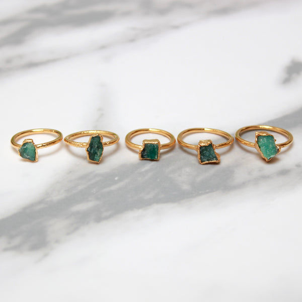 Emerald and Gold Ring | May Birthstone