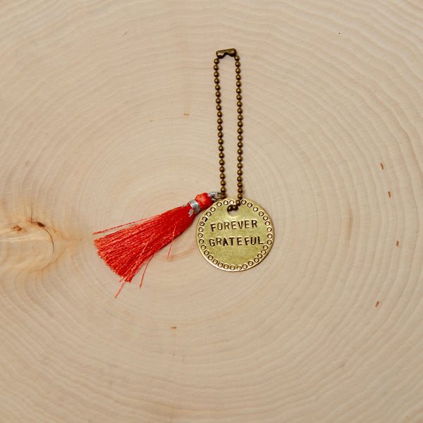 Gratitude Out Loud | Brass Keychain | Stamped Intention