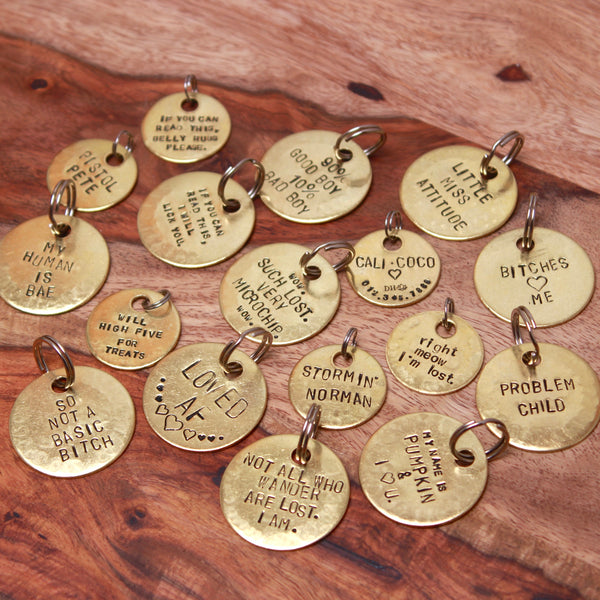 Custom Stamped Pet Tag | Engraved Pet ID-Extras-Drishti Handmade