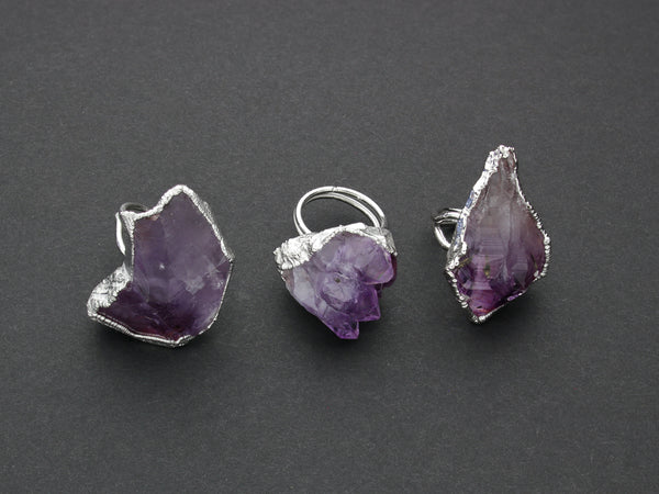 Amethyst Statement Ring | Limited Run-Ring-Drishti Handmade