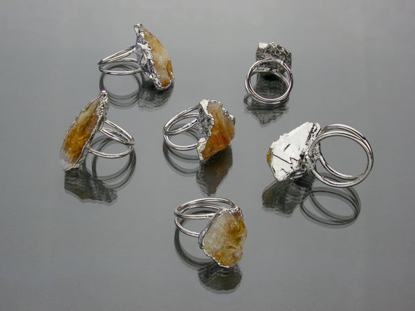 Large Citrine Ring | Limited Run-Ring-Drishti Handmade