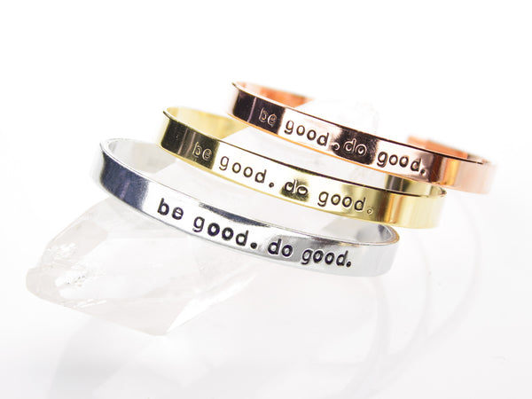 BE GOOD DO GOOD Cuff | Mantra Meditation-Cuff-Drishti Handmade