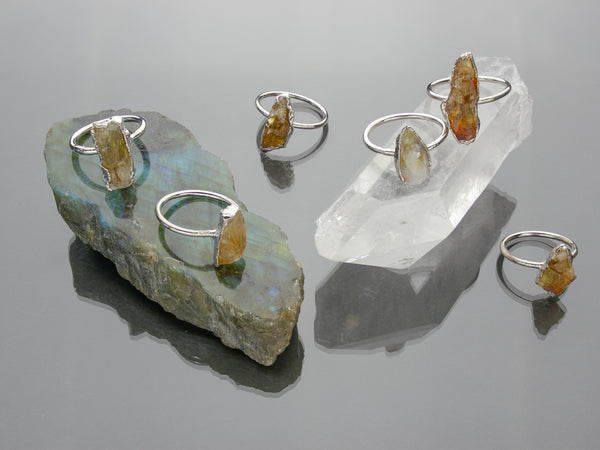 Citrine Ring | Limited Run-Ring-Drishti Handmade