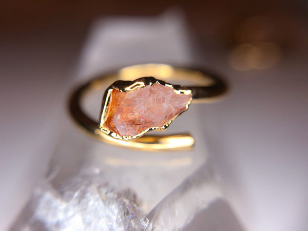 Citrine Ring | Open Gold Ring-Ring-Drishti Handmade