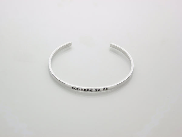 Courage to be | Hand Stamped Cuff-Cuff-Drishti Handmade