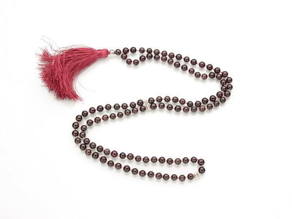 Garnet Mala | 108 Prayer Beads | Limited Run
