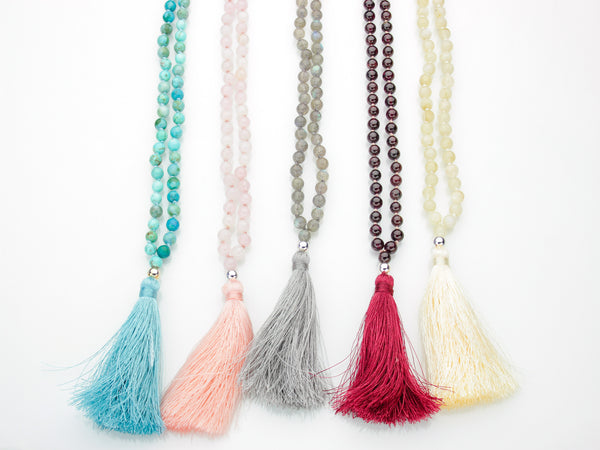 Garnet Mala | 108 Prayer Beads | Limited Run-Mala-Drishti Handmade
