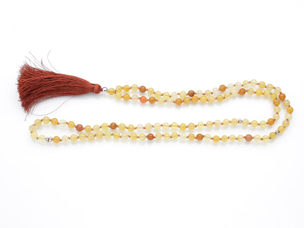 Honey Jade Mala | 108 Prayer Beads | Limited Run-Mala-Drishti Handmade