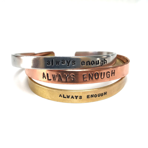 Always Enough Cuff | Hand Stamped Bracelet-Cuff-Drishti Handmade