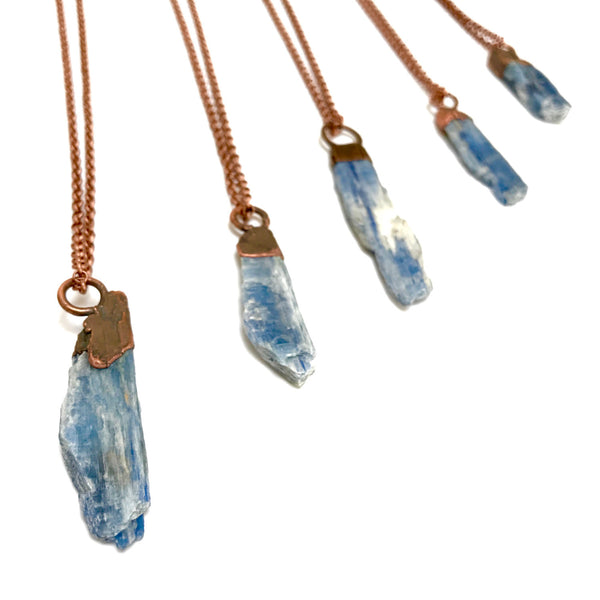 Kyanite Necklace | Raw Stone Pendant