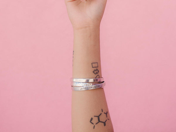 I'm Here. I'm Now. I'm Ready. | Hand Stamped Cuff