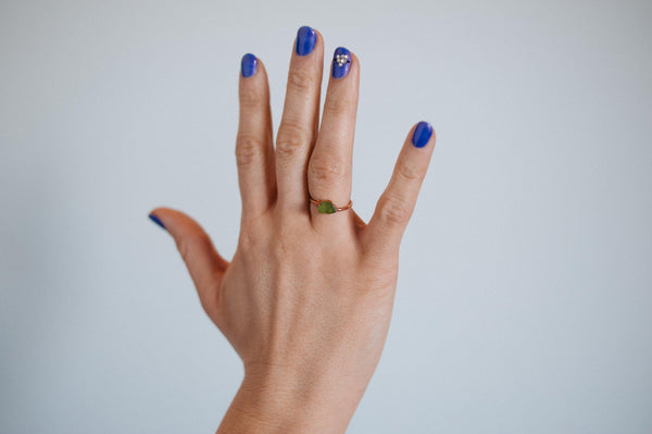 Peridot Ring | August Birthstone-Ring-Drishti Handmade