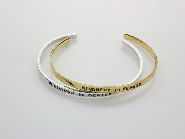 Kindness is Beauty | Hand Stamped Cuff