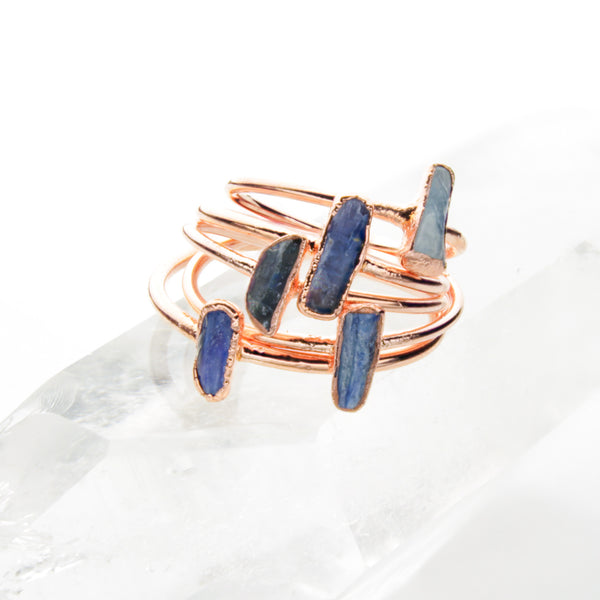 Kyanite Ring | Raw Crystal Stacking Ring-Ring-Drishti Handmade