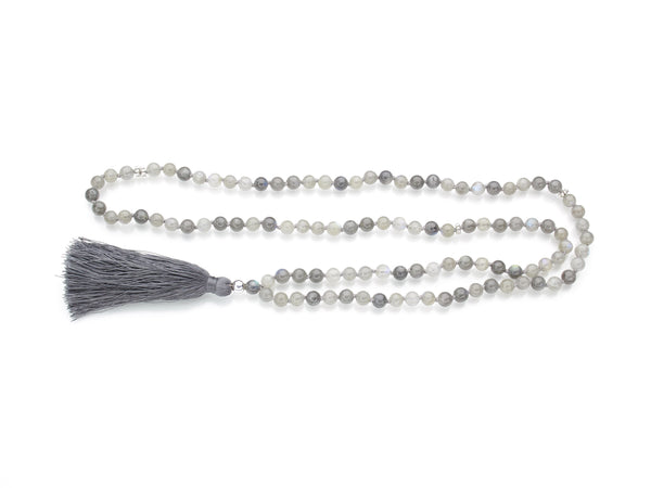 Labradorite Mala | 108 Prayer Beads | Limited Run-Mala-Drishti Handmade