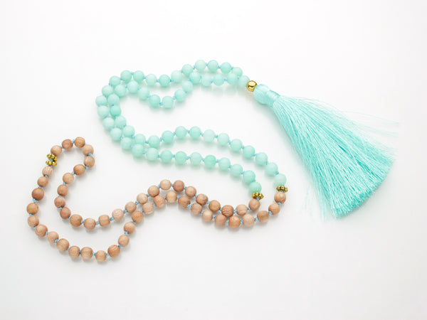 Amazonite Mala | 108 Mala Bead | Prayer Bead Necklace