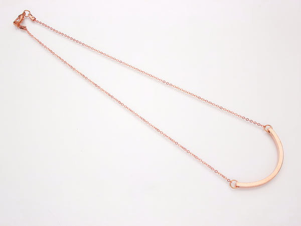 Minimal Curved Bar Necklace | BARE-Necklace-Drishti Handmade