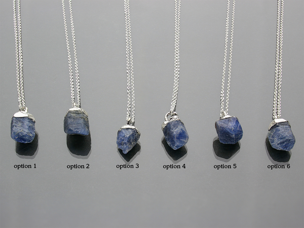 Sapphire Necklace | September Birthstone | Limited Run-Necklace-Drishti Handmade