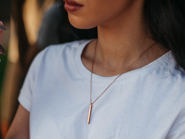 Minimal Bar Necklace | BARE-Necklace-Drishti Handmade
