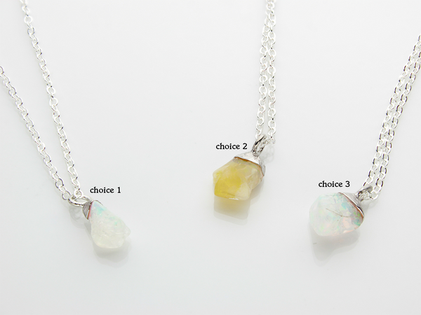 Opal Necklace | October Birthstone | Limited Run-Necklace-Drishti Handmade