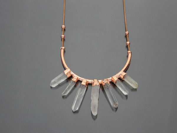 Large Quartz Statement Necklace | Limited Run-Drishti Handmade