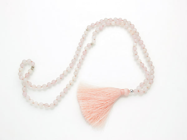 Rose Quartz Mala | 108 Prayer Beads | Limited Run-Mala-Drishti Handmade