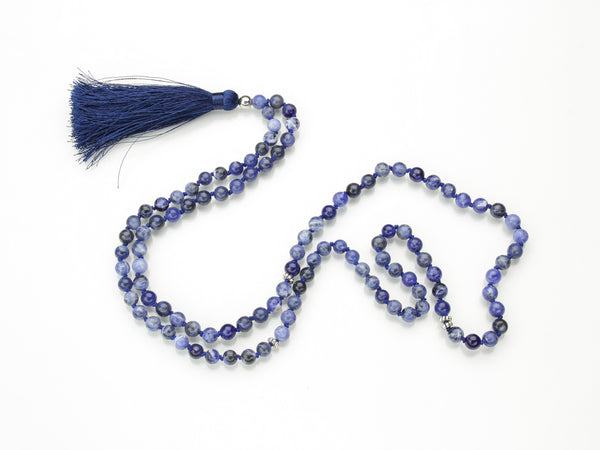 Sodalite Mala | 108 Prayer Beads | Limited Run-Mala-Drishti Handmade