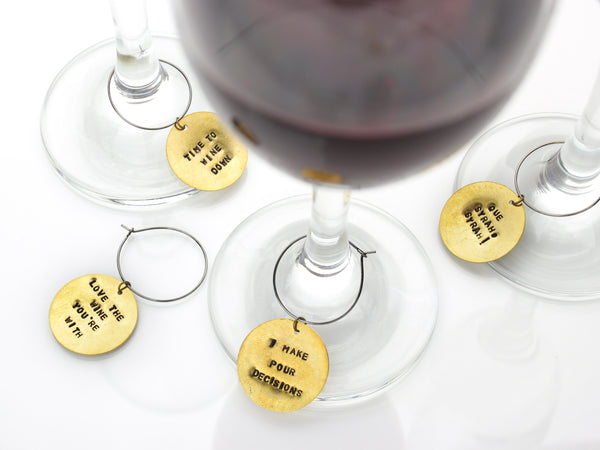 Wine Glass Charm | Personalized Wine Charm-Extras-Drishti Handmade