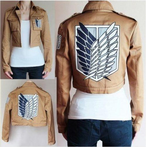 Attack on Titan Survey jacket Cosplay Jacket Coat- Cloak- Leather Apron - Geeks-ter