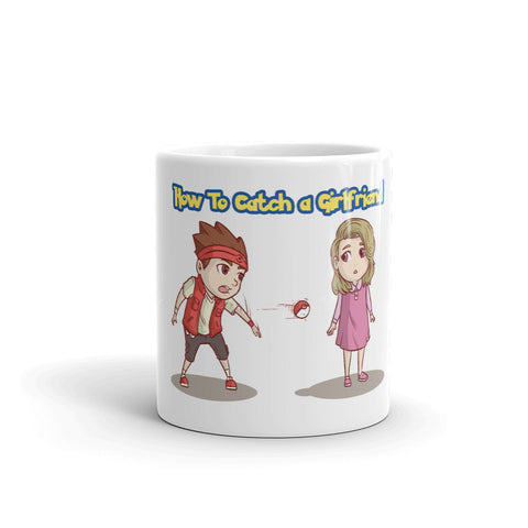 how to catch a girlfriend  pokemon parody coffee Mug - Geeks-ter
