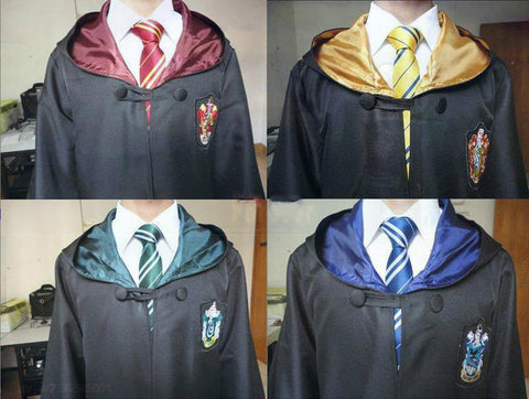 Harry Potter Cosplay Cloak Robe & Tie - Geeks-ter