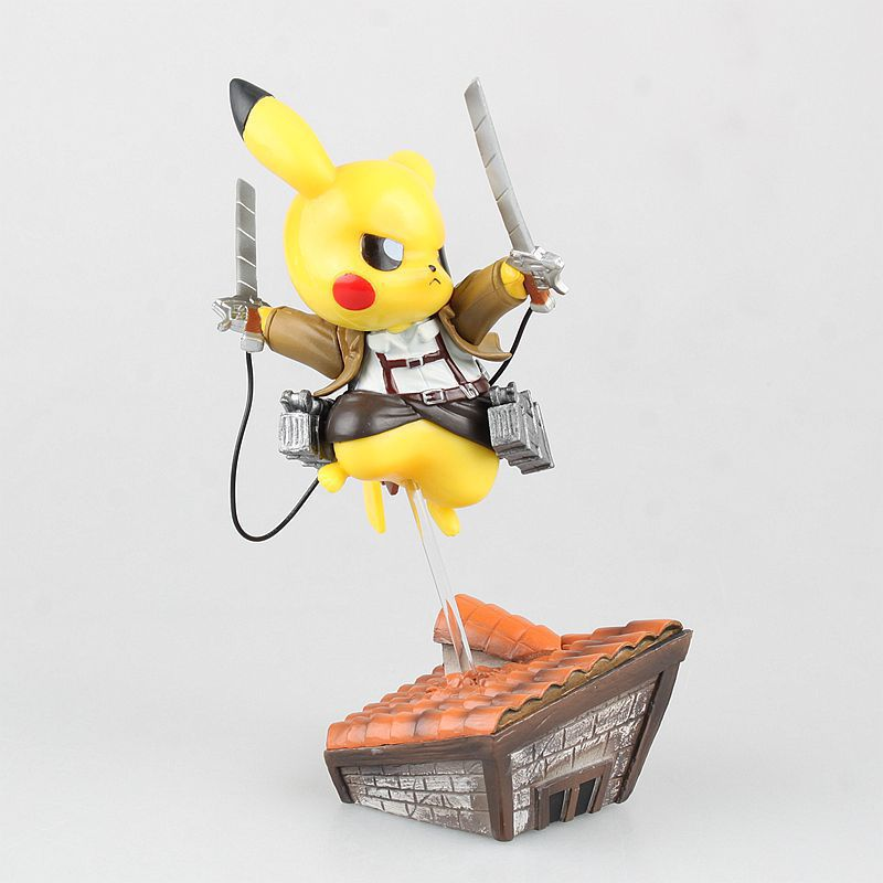 Pikachu Cosplay Attack on Titan PVC Action Figure - Geeks-ter