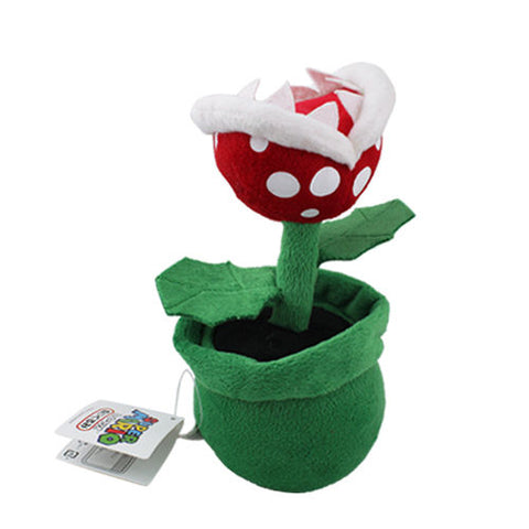 Super Mario Bros Piranha Plant 19cm Soft Plush stuffed toys - Geeks-ter