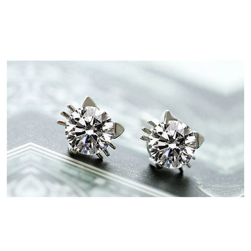 Boucles d'oreille crystal de chat