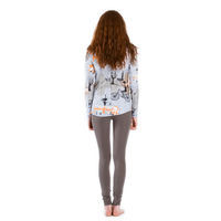 back of long sleeve womens t-shirt pattern