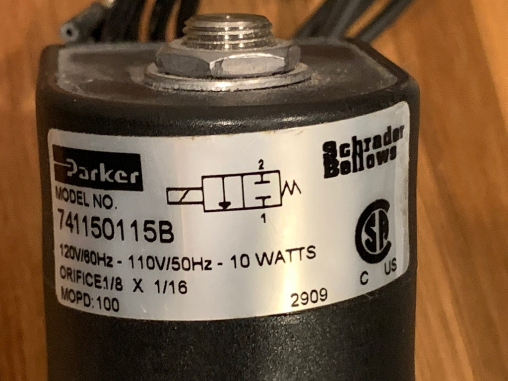 New - Parker Cyclone Valve 741150115B Schrader Bellows electronic air valve / FREE SHIPPING