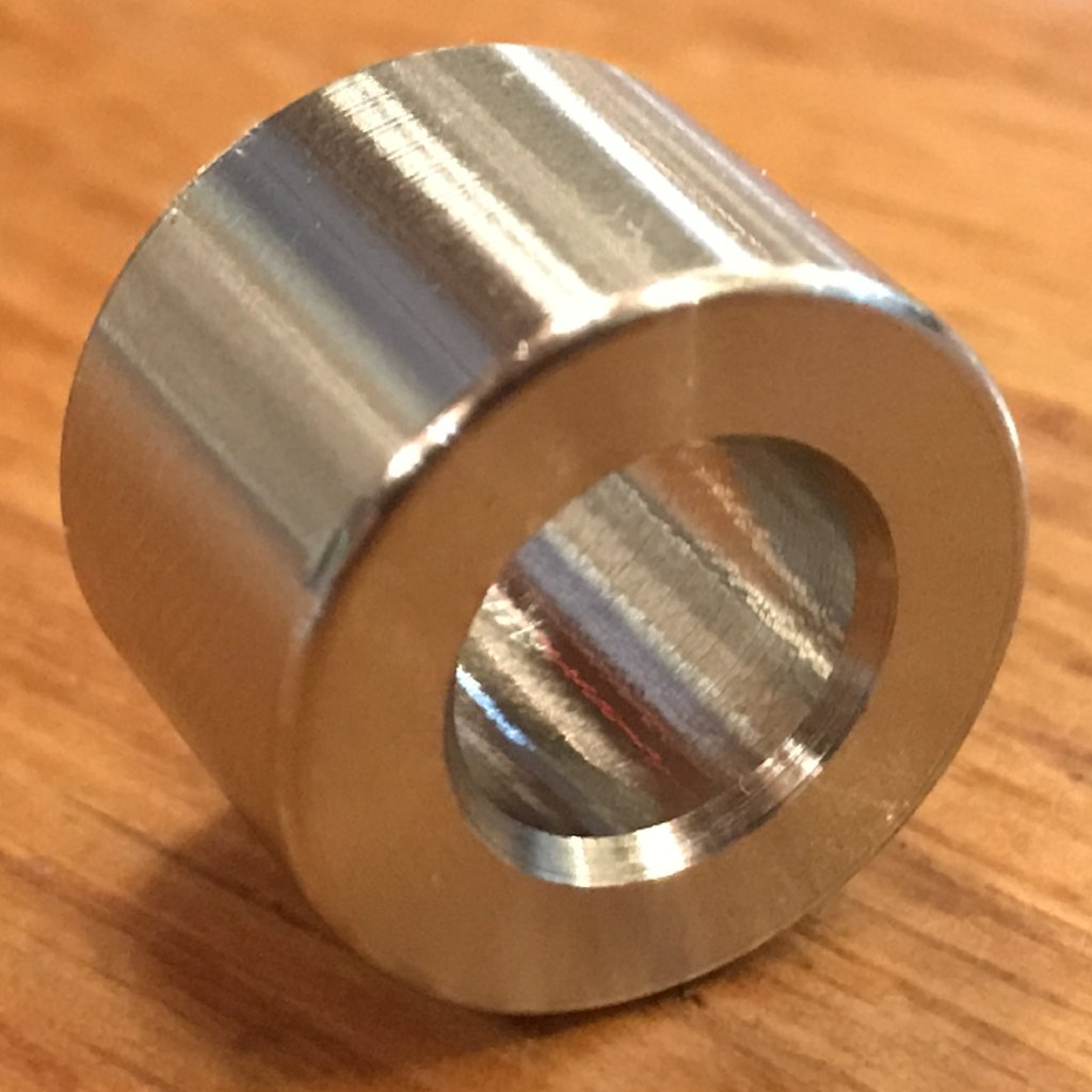 "3/8"" ID 316 stainless spacers"