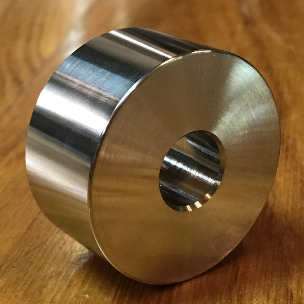 "EXTSW 1.008"" ID x 1 5/8"" OD x 1"" Thick 304 Stainless Shaft Spacer / FREE SHIPPING"