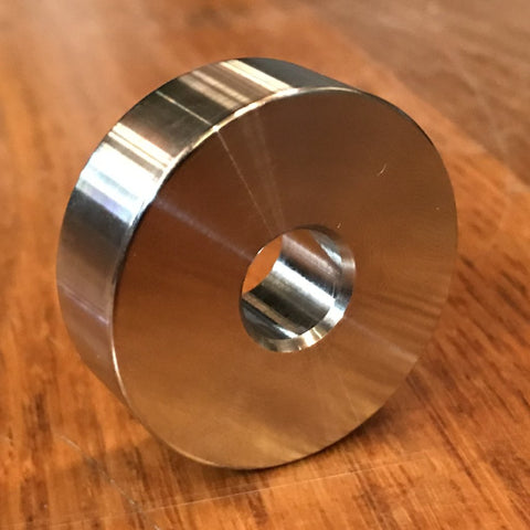 "extsw 7/16"" ID x 1 1/2"" OD x 1/2"" thick 316 stainless spacer / FREE SHIPPING"