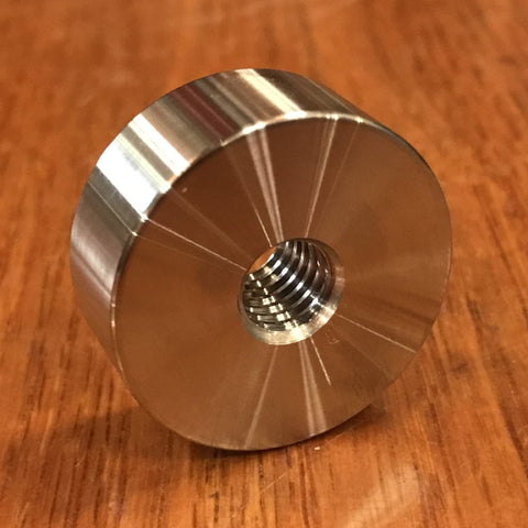 "extsw 3/8-16 tapped / threaded ID x 1 1/4"" OD x 1/2"" Thick 304 SS Boss"