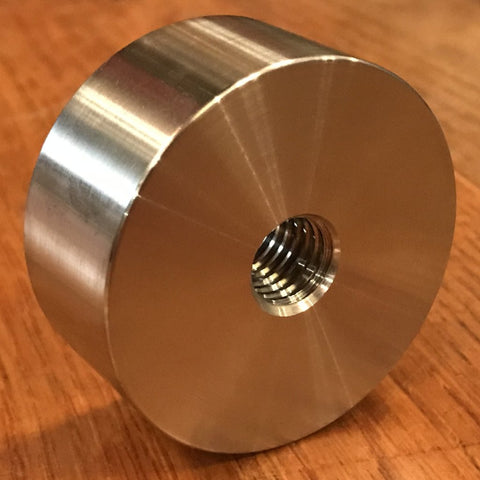 "extsw 1/2-13 tapped / threaded ID x 2"" OD x 7/8"" Thick 304 Stainless Steel Standoff / Boss"