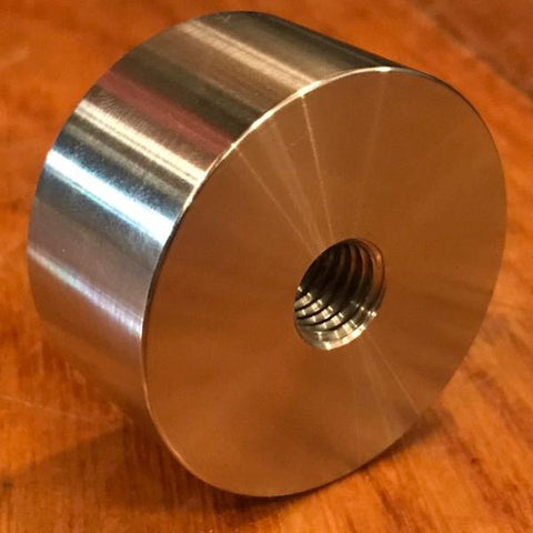 "extsw 1/2-13 tapped / threaded ID x 2"" OD x 1"" Thick 304 SS Boss"
