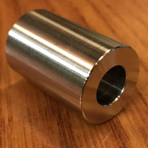 "extsw 1/2"" ID x 1"" OD x 1 1/2"" thick 316 stainless shaft spacer / FREE SHIPPING"
