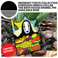Midnight Tokyo Collection :: Evergood Merch Collab / The Bath House Enamel Pin